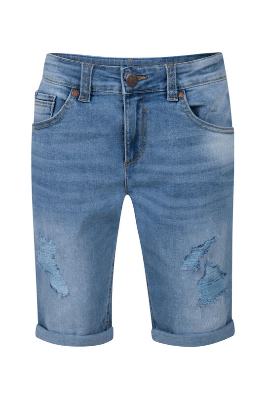 Jongens loose fit denim short Lichtblauw