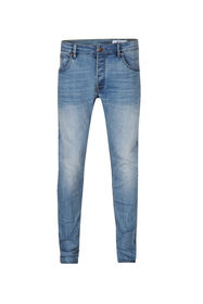 Heren Skinny tapared comfort stretch jeans_Heren Skinny tapared comfort stretch jeans, Lichtblauw