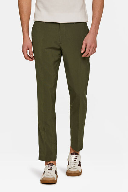 Heren slim fit pantalon Dali Olijfgroen