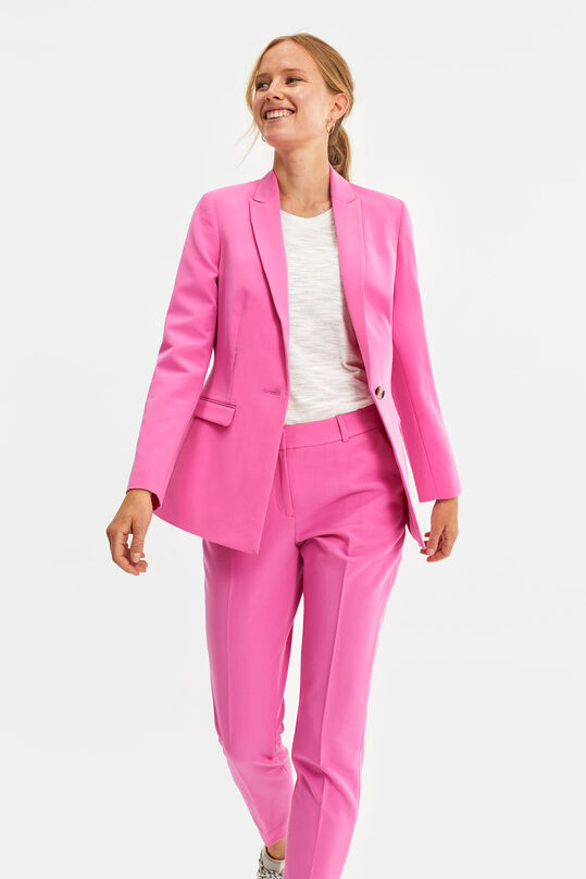 Dames regular fit blazer Roze
