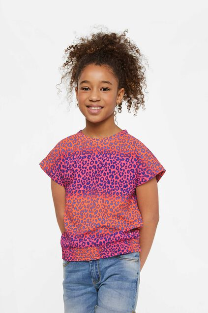 Meisjes blouse met panterdessin All-over print