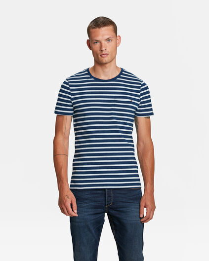 HEREN BLUE RIDGE GESTREEPT T-SHIRT Indigo