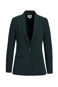 Dames regular fit blazer met stretch_Dames regular fit blazer met stretch, Donkergroen