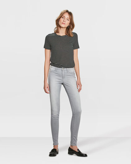 DAMES MID RISE SUPER SKINNY HIGH STRETCH JEGGING Lichtgrijs