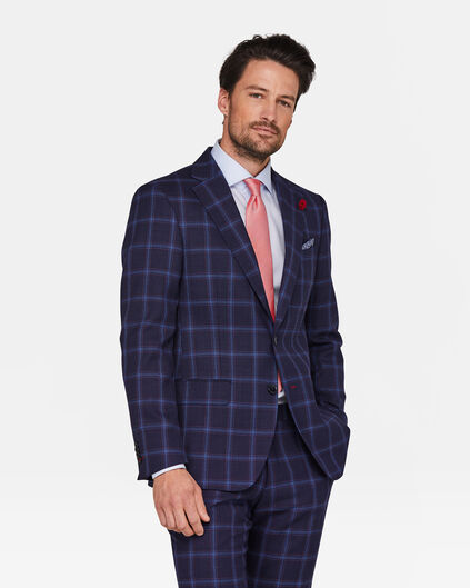HEREN SLIM FIT BLAZER DORAL Marineblauw