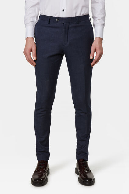 Heren slim fit pantalon Tarente Marineblauw
