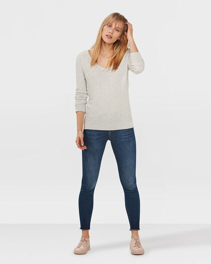 DAMES MID RISE SKINNY HIGH STRETCH CROPPED JEANS Donkerblauw