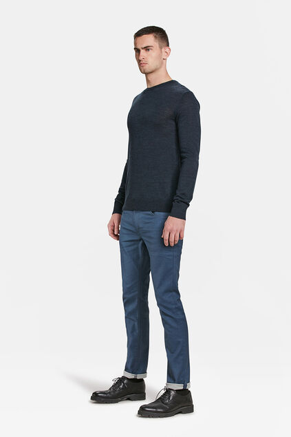 Heren slim fit comfort stretch jeans Grijsblauw