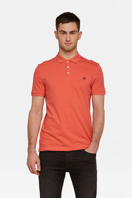 Heren organic cotton pique polo Roze