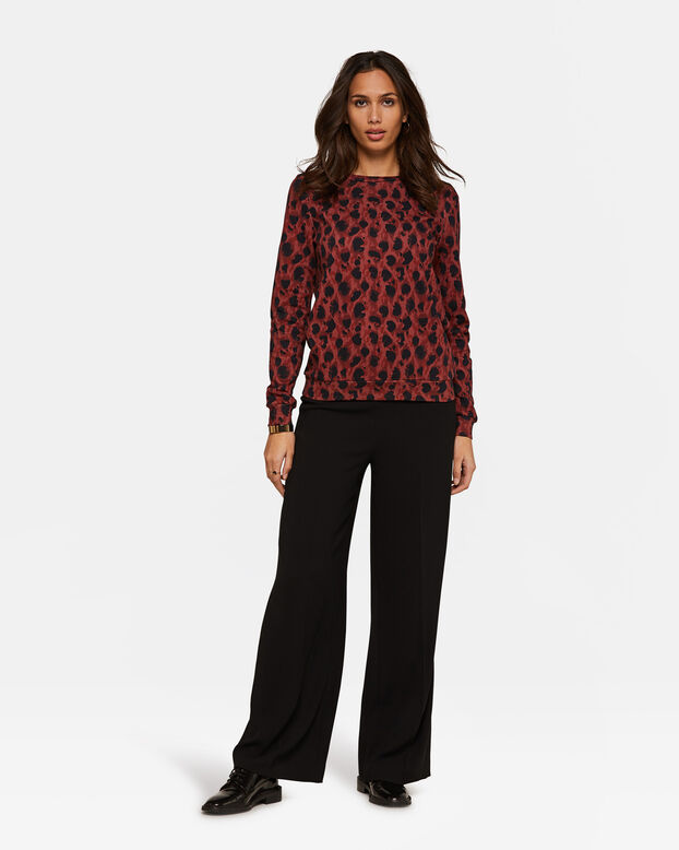 Dames dessin sweater Rood