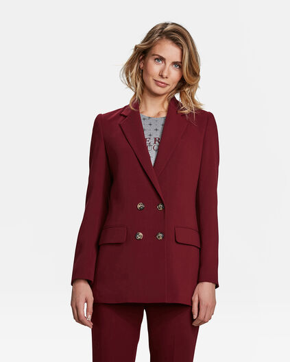 DAMES LOOSE FIT DOUBLE BREASTED BLAZER Bordeauxrood