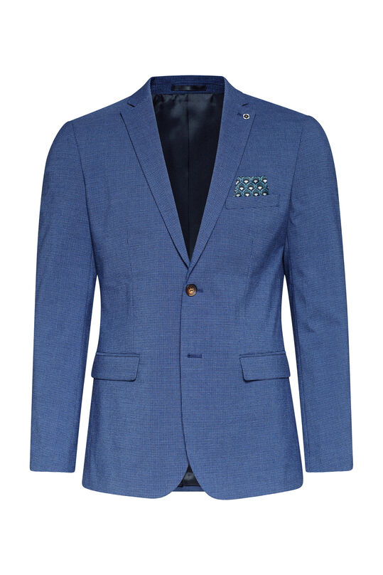 Heren slim fit blazer Benjamin Marineblauw