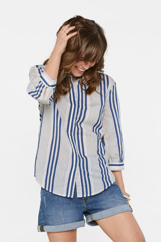 Dames gestreepte blouse All-over print