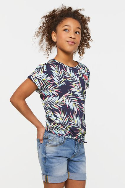 Meisjes T-shirt met dessin All-over print