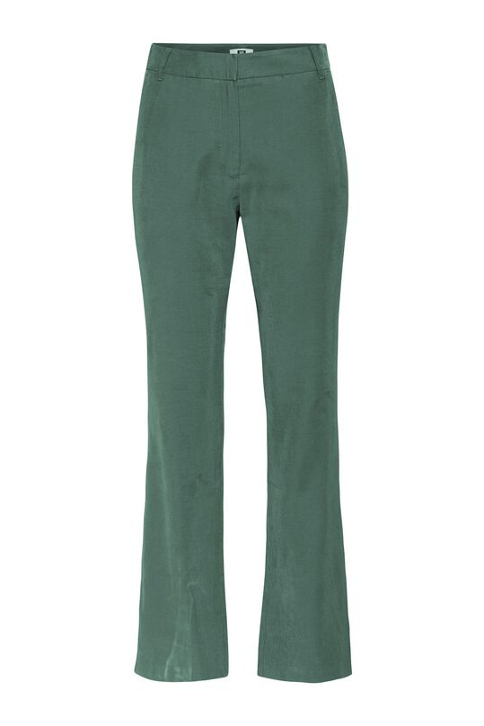 Dames high rise wide leg broek Groen