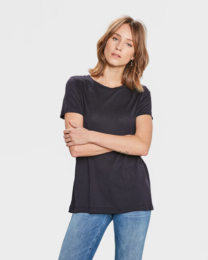 DAMES LYOCELL T-SHIRT Donkerblauw