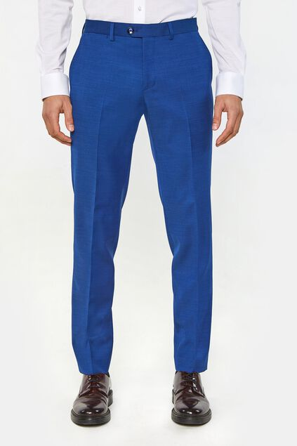 Heren regular fit pantalon Johnson Blauw