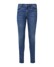 Dames mid rise skinny fit jeans_Dames mid rise skinny fit jeans, Donkerblauw