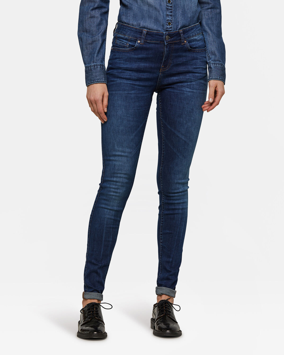 Dames mid rise super skinny super stretch jeans | 92291386_0158 WE Fashion