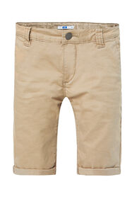 Jongens slim fit chino short_Jongens slim fit chino short, Beige