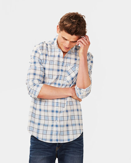 HEREN RELAXED FIT CHECKED OVERHEMD Lichtblauw