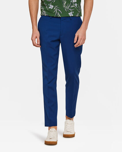 Heren slim fit pantalon Dali Kobaltblauw
