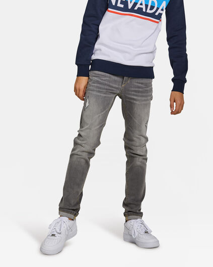 Jongens skinny fit super stretch jeans Grijs