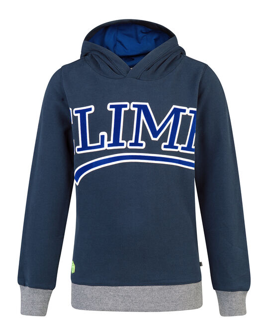 JONGENS CLIMB HOODED SWEATER Blauw
