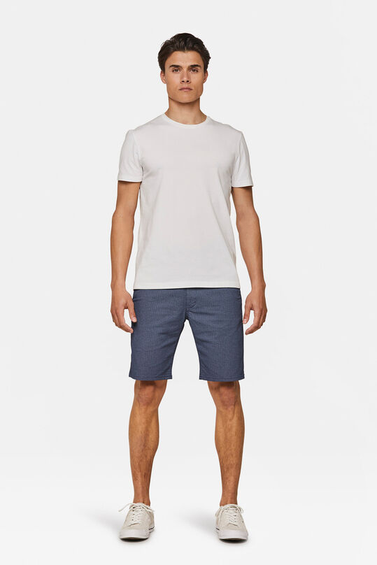 Heren regular fit dessin chino short Marineblauw