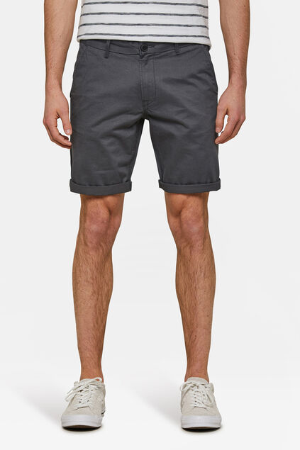 Heren regular fit chino short Donkergrijs