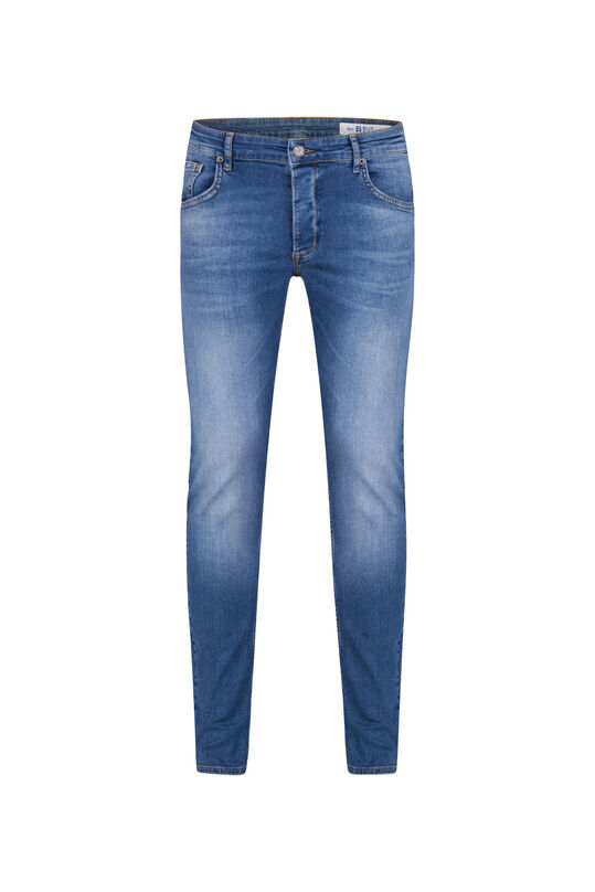 Heren skinny fit comfort stretch jeans Blauw