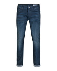 HEREN SLIM TAPERED STRETCH JEANS_HEREN SLIM TAPERED STRETCH JEANS, Donkerblauw
