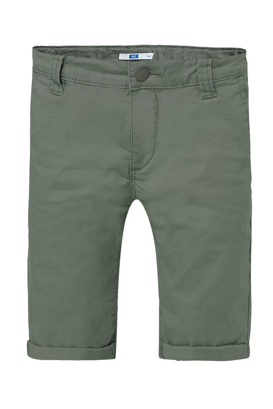 Jongens slim fit chino short Legergroen