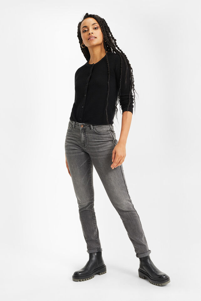 Dames mid rise skinny jeans Grijs