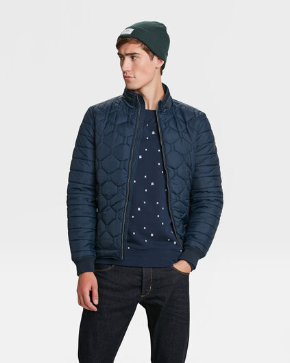 HEREN LIGHTWEIGHT QUILTED JACKET Donkerblauw