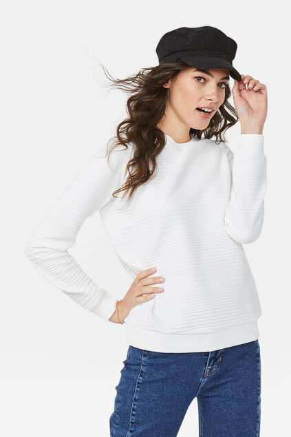 Dames structuur sweater Wit