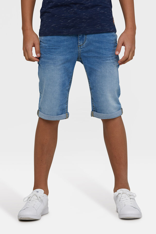 Jongens Slim Fit jog denim short Blauw