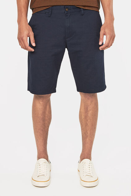 Heren tall fit chinoshort Donkerblauw