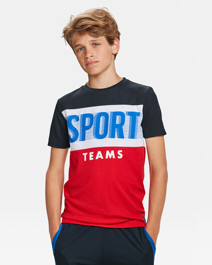 JONGENS ATHLETIC PRINT T-SHIRT Rood