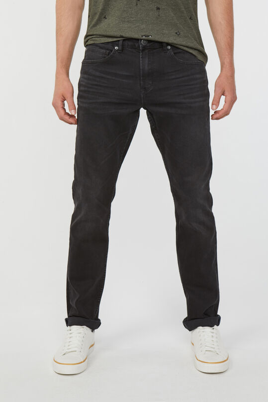 Heren Regular straight comfort stretch jeans Zwart