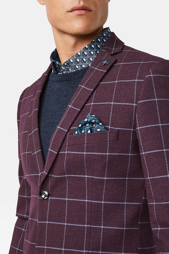 Heren Skinny fit blazer Winslow Bordeauxrood