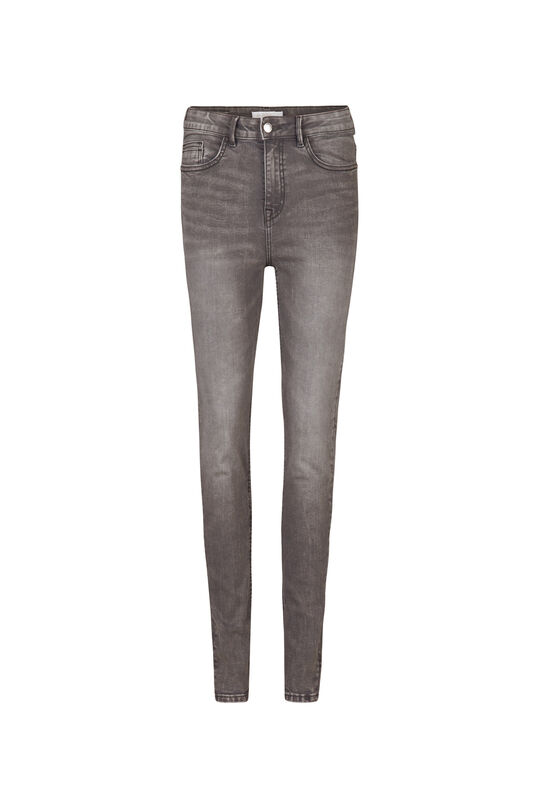 Dames high rise skinny comfort stretch  jeans Lichtgrijs
