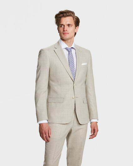 HEREN SLIM FIT BLAZER LANARK Taupe