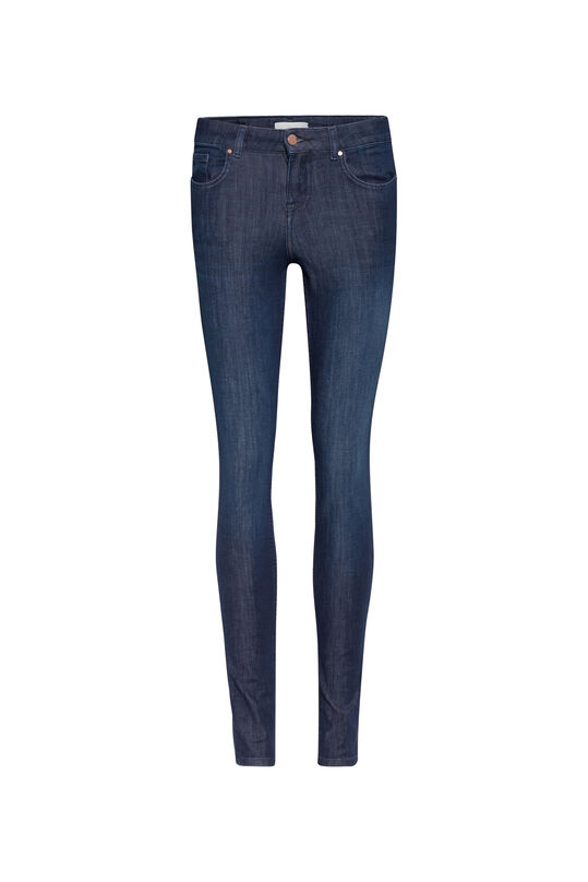 Dames super skinny shaping jeans Donkerblauw