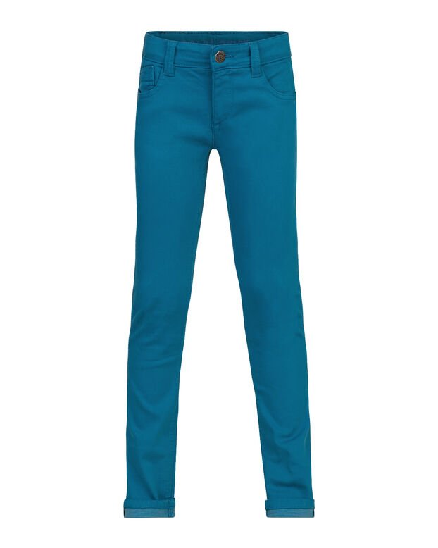 JONGENS SUPER SKINNY POWER STRETCH GARMENT DYED BROEK Blauw
