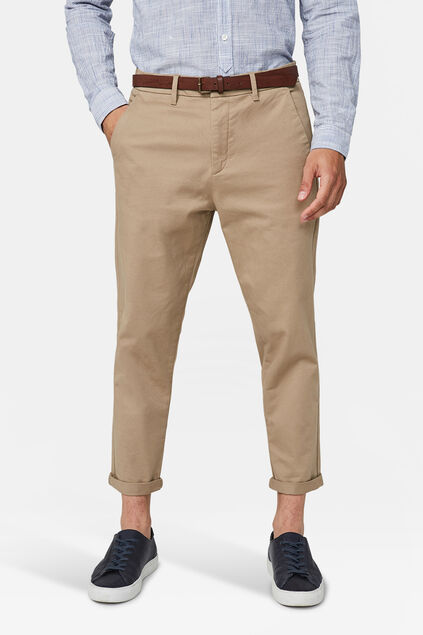Heren loose tapered chino Bruin