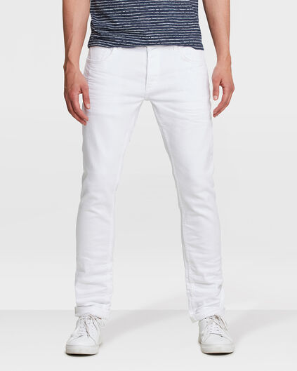 HEREN TAPERED SLIM FIT COMFORT STRETCH JEANS Wit