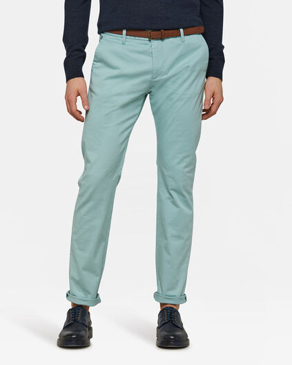 Heren skinny fit chino Mintgroen
