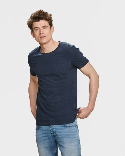 HEREN CHEST POCKET T-SHIRT Donkerblauw