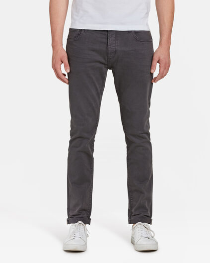 HEREN SLIM TAPERED BROEK Antraciet